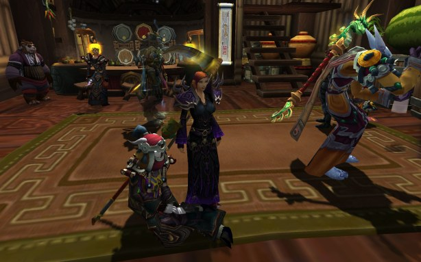 This human female warlock looked great in her Tmog along with sporting her Scythe!