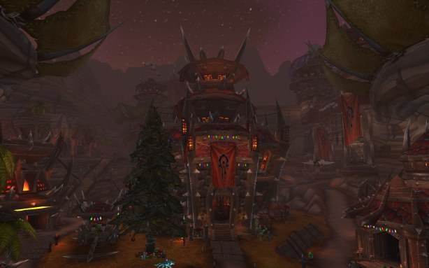 Orgrimmar celebrating Winter Veil