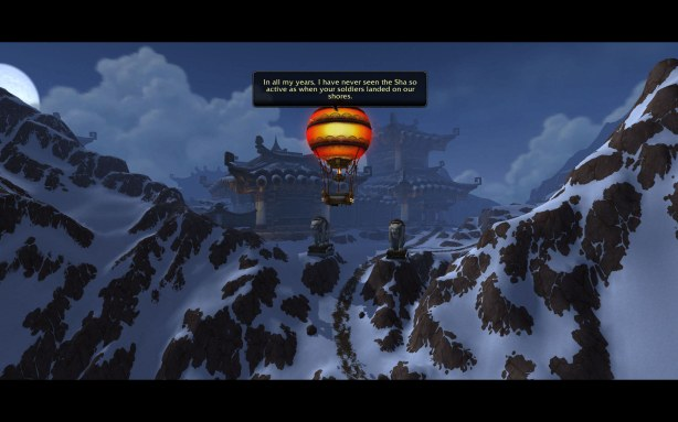A beautiful baloon ride turned into a griping session about Horde and Alliance
