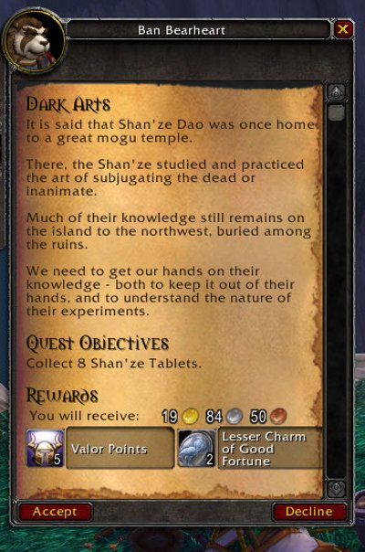 OMG, they took a great name for a quest and ruined it! I may have to do a rant about this one. It's a complete fumble and horrible way to drop the ball IMHO.