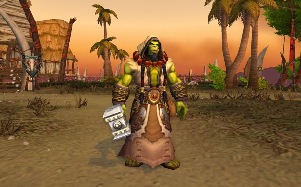 I understand that Thrall stepped down because he wanted to focus on himself...er...his family and his shamanistic heritage. I just didn't know any of that included steriod abuse. Sorry Thrall...er...Goel...I liked you better when you were smaller in size, wearing battlegear and flirting with Jaina.
