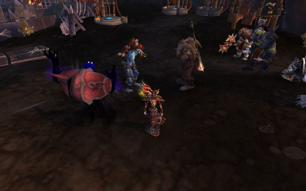 Vol'jin and Garrosh on the beach and not it wasn't a romantic gathering. Someone please put some clothes on Vol'jin...he looks cold. What is it with the Horde leaders feeling like the less they wear the more important they are?