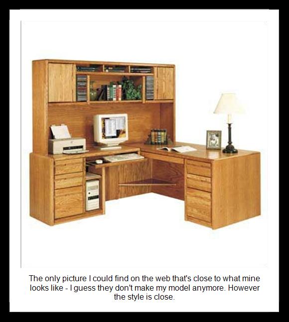 computer desk hutch plans